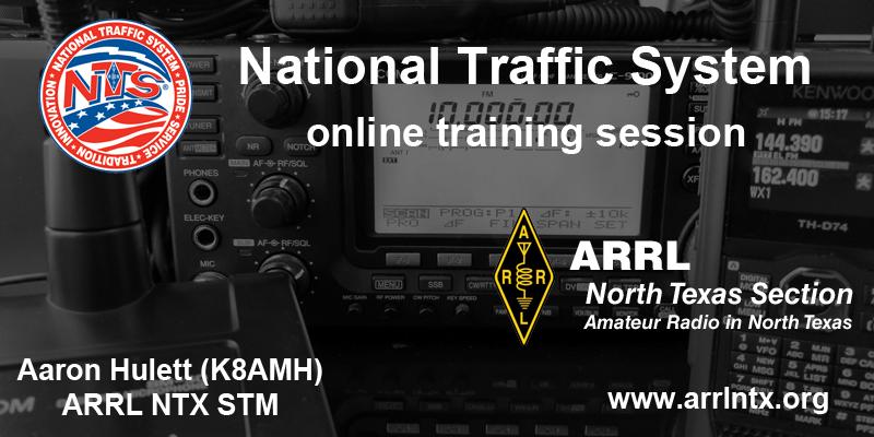 Online National Traffic System training - September 19 at 2 pm